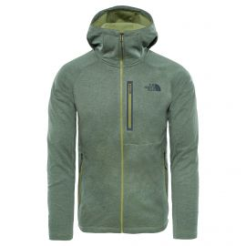 The North Face Canyonlands Hoodie fleece vest heren iguana green