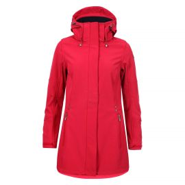 Luhta Britt softshell winterjas dames classic red