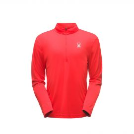 Spyder Limitless Solid Zip T-Neck skipully heren red