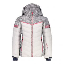 CMP Girl Jacket Snaps Hood 38W0475 winterjas junior bianco