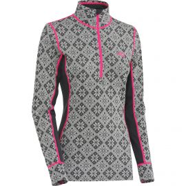 Kari Traa Rose Halfzip thermoshirt dames ebony