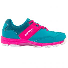 Grays Flash hockeyschoenen junior aqua pink zijkant