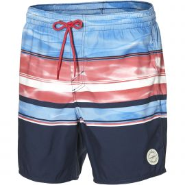 O'Neill PM Long Beach Shorts zwembroek heren blue aop white pink
