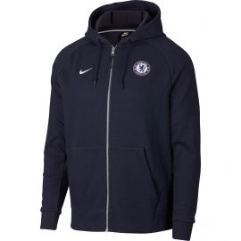 Nike Chelsea FC Hoodie vest heren obsidian signal blue heather white