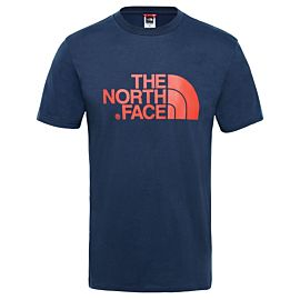 The North Face Easy Tee T-shirt heren urban navy fiery red