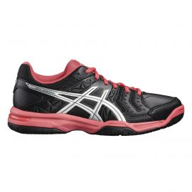 ASICS Gel-Squad E568Y indoorschoenen dames rouge red black silver