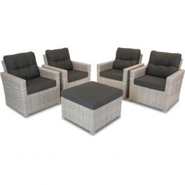 Bardani Florida loungeset 2 misty grey