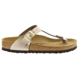 Birkenstock Gizeh slippers dames electric metallic taupe
