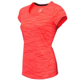 Sjeng Sports Brizzy tennisshirt junior lightning coral