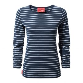 Craghoppers NosiLife Camille Crew shirt dames night blue optic white