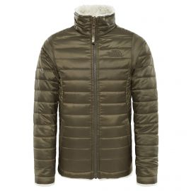 The North Face Reversible Mossbud Swirl winterjas junior new taupe green