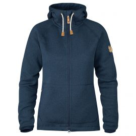 Fjällräven Övik Fleece Hoodie fleece vest dames navy