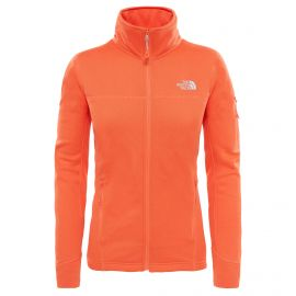 The North Face Kyoshi fleece vest dames nasturtium orange dark heather