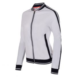 Sjeng Sports Laccar full zip top trainingsjack dames real white