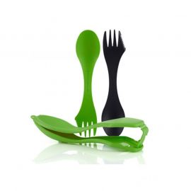 Light My Fire Sporks 'n case bestekset black green