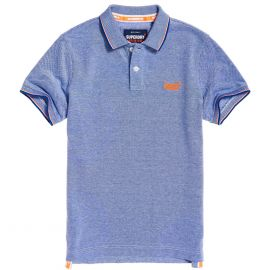 Superdry Classic Poolside Pique polo heren cobalt white