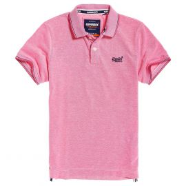 Superdry Classic Poolside Pique polo heren coral white