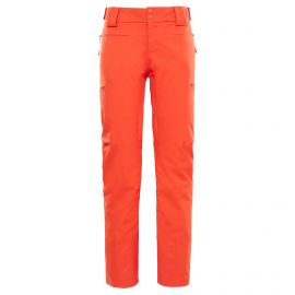 The North Face Powdance skibroek dames fire brick red