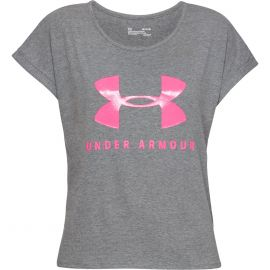 Under Armour Graphic Sportstyle Fashion shirt dames gray