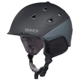 Sinner Stoneham helm matte black grey
