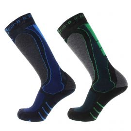 Sinner Geo 2-pack skisokken blue green