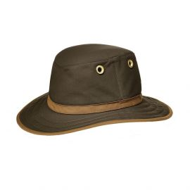 Tilley TWC7 medium curved outback brim hoed olive