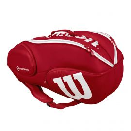 Wilson Vancouver 9 pack tennistas red white zijkant