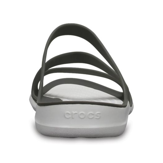 Crocs Swiftwater slippers dames smoke white Slippers