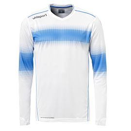 Uhlsport Eliminator keepershirt white energy blue