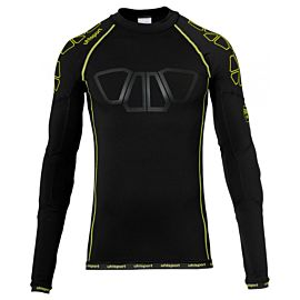 Uhlsport Bionikframe baselayer shirt heren black fluo yellow