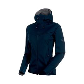 Mammut Ultimate V Hooded hardshell outdoor jack dames marine