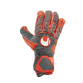 Uhlsport Aerored Supergrip keepershandschoenen dark grey melange fluo red