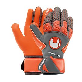 Uhlsport Aerored Absolutgrip Reflex keepershandschoenen dark grey fluo red white