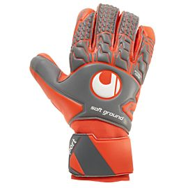Uhlsport Aerored Soft keepershandschoenen dark grey fluo red white