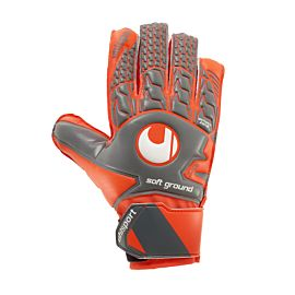 Uhlsport Aerored Soft Advanced keepershandschoenen junior dark grey fluo red white