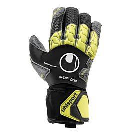 Uhlsport Supergrip Bionik+ keepershandschoenen black fluo yellow dark grey mélange