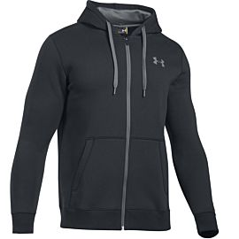 Under Armour Rival Fitted Full Zip vest heren black
