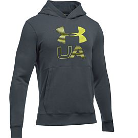 Under Armour Graphic fleece hoodie heren gray
