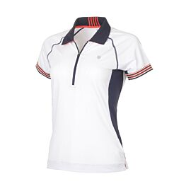 K-Swiss TAC Heritage tennispolo dames white voorkant