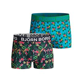 Björn Borg Exotic Mini en Paradise onderbroek junior peacoat 2-Pack