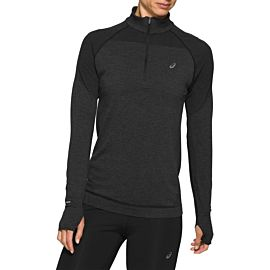ASICS Race Seamless 1/2 Zip hardloopshirt dames performance black