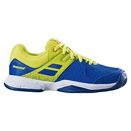 Pulsion All Court tennisschoenen junior blue fluo aero