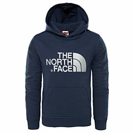 The North Face Drew Peak Hoodie sweater junior cosmic blue high rise grey