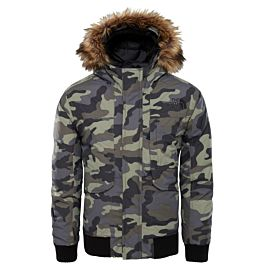 The North Face Gotham winterjas junior new taupe green camouflage print