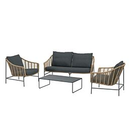 4 Seasons Outdoor Timor loungeset beige anthracite