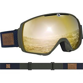 Salomon XT One Goggle skibril olive night sol bronze