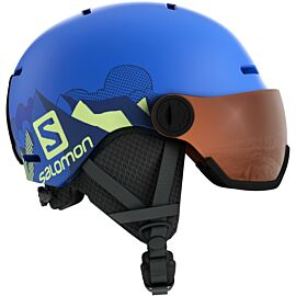 Salomon Grom Visor helm junior pop blue