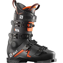 Salomon S/Max 100 skischoenen heren black orange white