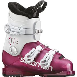 Salomon T3 RT skischoenen junior girly pink white
