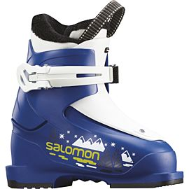 Salomon T1 skischoenen junior race blue white